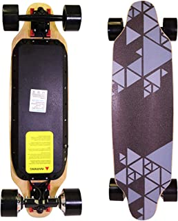 """COZYSWAN Eletric Skateboard, Upgraded 32"""" Hands-Free Control Electric Longboard Skateboard with Built-in LED Light Wireless Remote Control for Adults and Youths"""