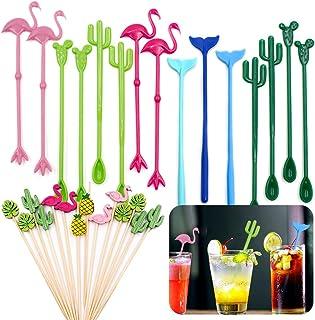 25 Red Chinese Dragon Cocktail Drink Swizzle Stir Sticks