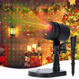 Christmas Lights Laser Projector - Red & Green Starry Laser Projection Light 3 Working Modes Waterproof Plug in Mountable for Holiday House Indoor Outdoor Party New Year Decoration