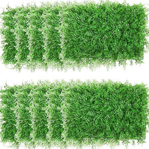uyoyous 12 piante artificiali da appendere, 40 x 60 cm, colore verde, per la privacy, da parete, per interni ed esterni, paesaggio per matrimoni, feste di nozze, decorazione da giardino