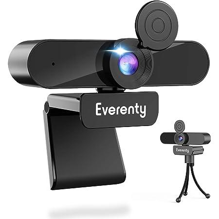 Webcam con microfono 1440P 2K HD 110 Angolo Di Visualizzazione Largo Di Grado Webcam con Clip Regolabile per Laptop,Desktop,per Video dal Vivo,Conferenze,Videochiamate,Lezioni Online e Giochi