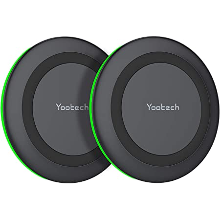 Yootech [2 Pack] Wireless Charger,Qi-Certified 10W Max Fast Wireless Charging Pad Compatible with iPhone 12/12 Mini/12 Pro Max/SE 2020/11 Pro Max,Samsung Galaxy S21/S20,AirPods Pro(No AC Adapter)