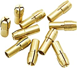 10 brocas de latón para taladro de 0,5 a 3,2 mm, accesorios para Dremel Rotary Tools Shank de 4,3 mm