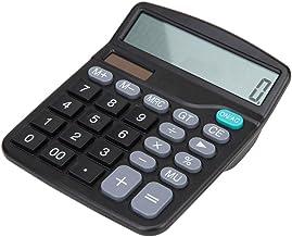 $34 » ZZL Multifunction Calculator Dual Power Supply Non-Slip Silicone Button Solar Calculator Office Supplies 12-Digit Keypad C...