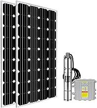 ECO LLC DC 24V Solar Screw Pump Kit 3'' Deep Well Submersible Pump + 360W Poly Solar Panel + MPPT Controller