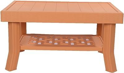 Supreme Vegas Plastic Center Table (Amber Gold)