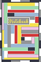 Color Block 6X9 Notebook/Journal (narrow): 128-blank college-ruled pages Paperback