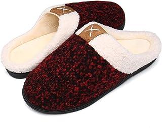 Bocianelli Women's Cozy Memory Foam Slippers Fuzzy Wool-Like Plush Fleece Lined House Shoes w/Indoor