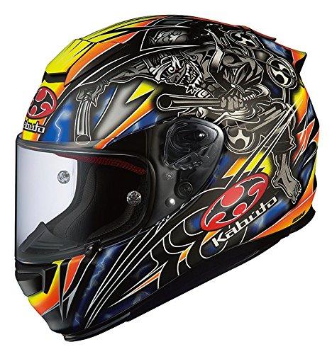 オージーケーカブト(OGK KABUTO) バイクヘルメット フルフェイス RT-33 AKIYOSHI(アキヨシ) フラットブラック/イエロー (サイズ:M) 567149