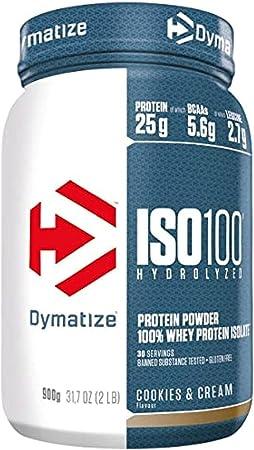 Dymatize ISO 100 Cookies&Cream 2,2kg - Hidrolizado de Proteína de Suero Whey + Aislado en Polvo
