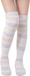 SKOLA 1/2 Soft Warm Fuzzy over the Knee High Long Winter Cozy Slipper Socks