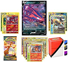 Pokemon V Guarantee with Booster Pack, 5 Rare Cards, 5 Holo/Reverse Holo Cards, 20 Regular Pokemon Cards and Totem Deck Box
