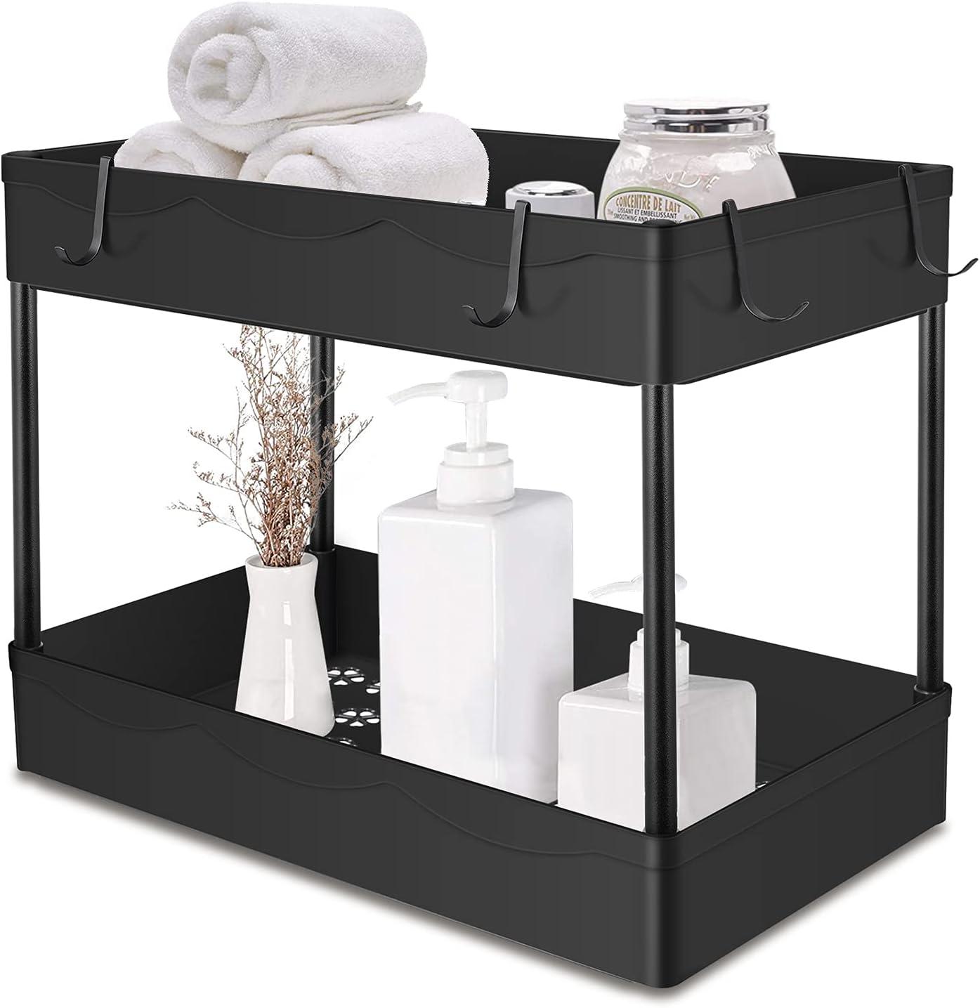 Under Sink Organizer 2 Regular store Max 86% OFF Tier Standing wit Bathroom Rack