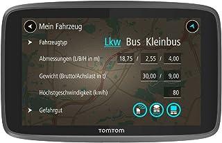 TomTom LKW Navigationsgerät GO Professional 6250 (6 Zoll, Sonderziele und Routen für LKW, Stauvermeidung dank TomTom Traffic, Karten Updates Europa, Updates über Wi Fi, hochwertige Halterung)