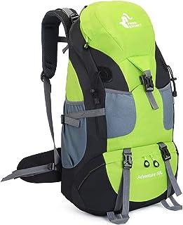 Mochila de senderismo de 50 litros para acampar al aire libre y viajar