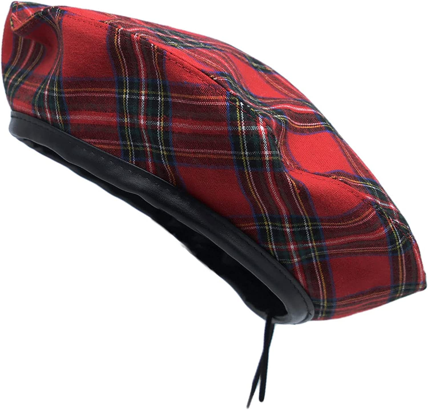 WITHMOONS Cotton Plaid Beret Hat Tartan Check French Beanie Cap YZF0083