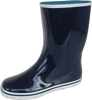 長靴 雨靴 防水 レインシューズ ハーフ 作業長 軽量 ガーデニング 畑仕事 シンプル 吸汗 通勤 2色 レディース