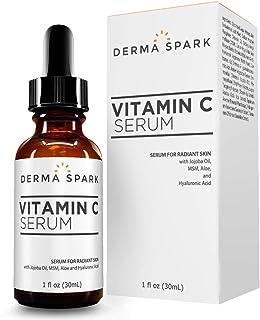 Vitamin C Serum For Face | With Hyaluronic Acid, Jojoba, Vitamin E & MSM | Natural Anti Aging Facial Serum | Best Wrinkle ...