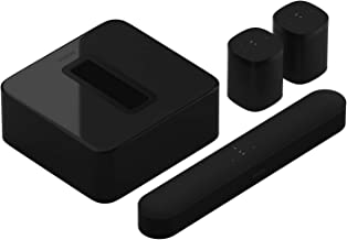 Sonos 5.1 Home Theater System with Pair of One SL (2 Items) Bundle with Beam (1 Item) and SUB (1 Item) - Black