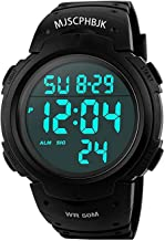MJSCPHBJK Mens Digital Sports Watch, Waterproof LED Screen Large Face Military Watches..