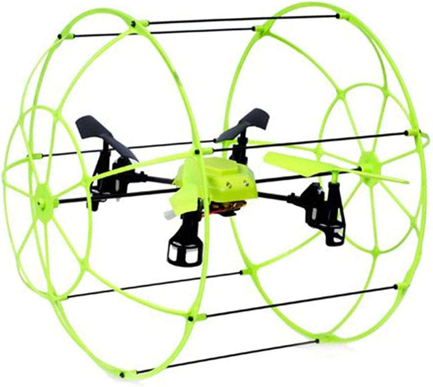 Sky Runner  Quadcopter Aerocraft.  2.4 GHz Caged Drone that Runs Along Floors, Ceilings, Climbs Walls AND Flies up to 100 ft away