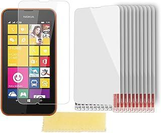 Cadorabo DE-102381 skärmskyddsfolie för Nokia Lumia 530 10 st. högtransparenta skyddsfolie mot damm, smuts och repor trans...