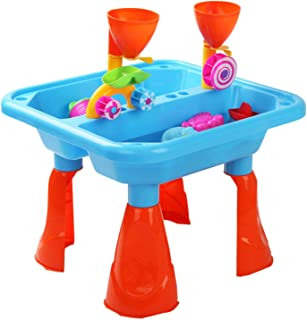 Keezi Kids Outdoor Sand and Water Children Activity Play Table Sandpit Toy Set