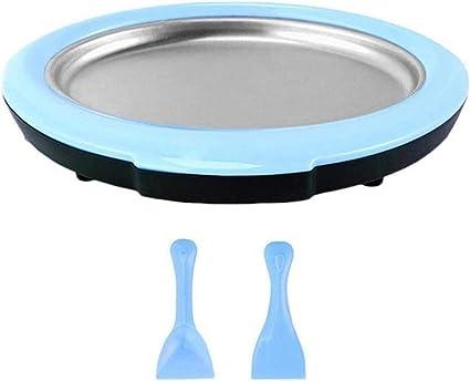 kangOnline - Máquina para hacer helados con 2 espátulas, mini yogurts fritos, placa de hielo casera para hacer helados en casa, cocina, camping, ...