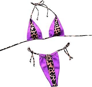 Natación LHWY Mujeres Que Imprimen el Vendaje Bikini Conjunto Traje de baño brasileño Ropa de Playa Traje de baño Ropa de baño