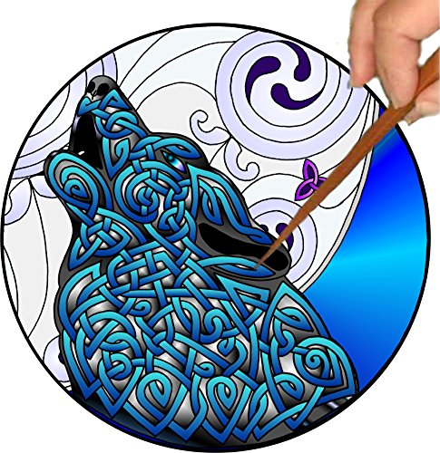 Mandalynths Celtic Wolf Mindfulness Art for Stress, Anxiety and Attention Management