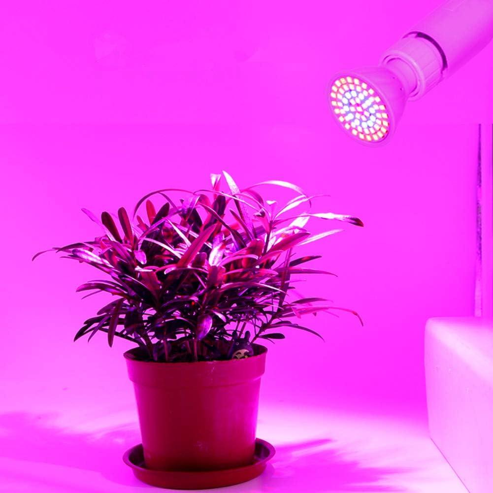 HIAHA Bombilla De Crecimiento De Plantas E27 De Espectro Completo Bombilla De L/ámpara De Cultivo De Flores De Plantas De Jard/ín Interior De 220 V LED Blanco