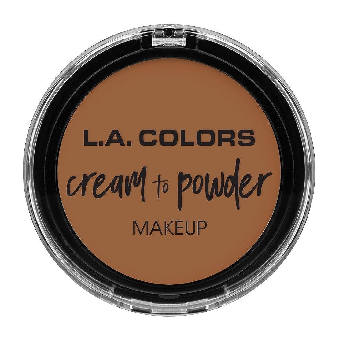 平凡トロイの木馬童謡L.A. COLORS Cream To Powder Foundation - Sand (並行輸入品)