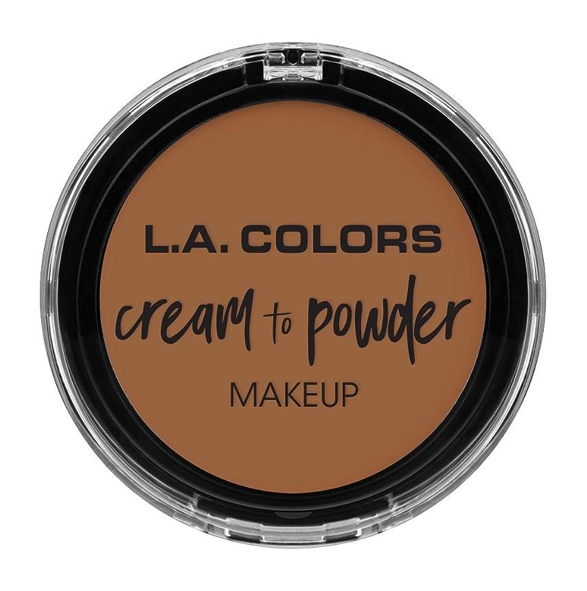 事ミリメートルスーツL.A. COLORS Cream To Powder Foundation - Sand (並行輸入品)