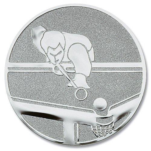 Coppa-emblem piscina-stecca da argento