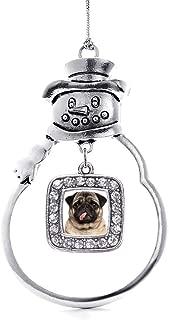 silver pug ornament
