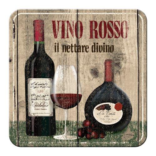 Nostalgic-Art 46124 Bier und Spirituosen Vino Rosso, Untersetzer