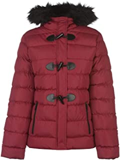 Toggle Jacket Womens Red Outdoor Top Ladies Outerwear