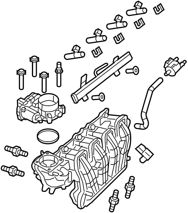 NEW Genuine OEM Engine Intake Manifold Audi Free shipping on posting reviews for 07L133109BA