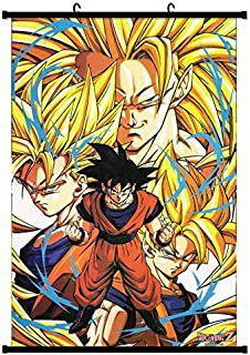 Tina Art Dragon Ball Super Z 36 x 24 inches Fabric Saiyan Goku Wall Poster with Frame and Hanger