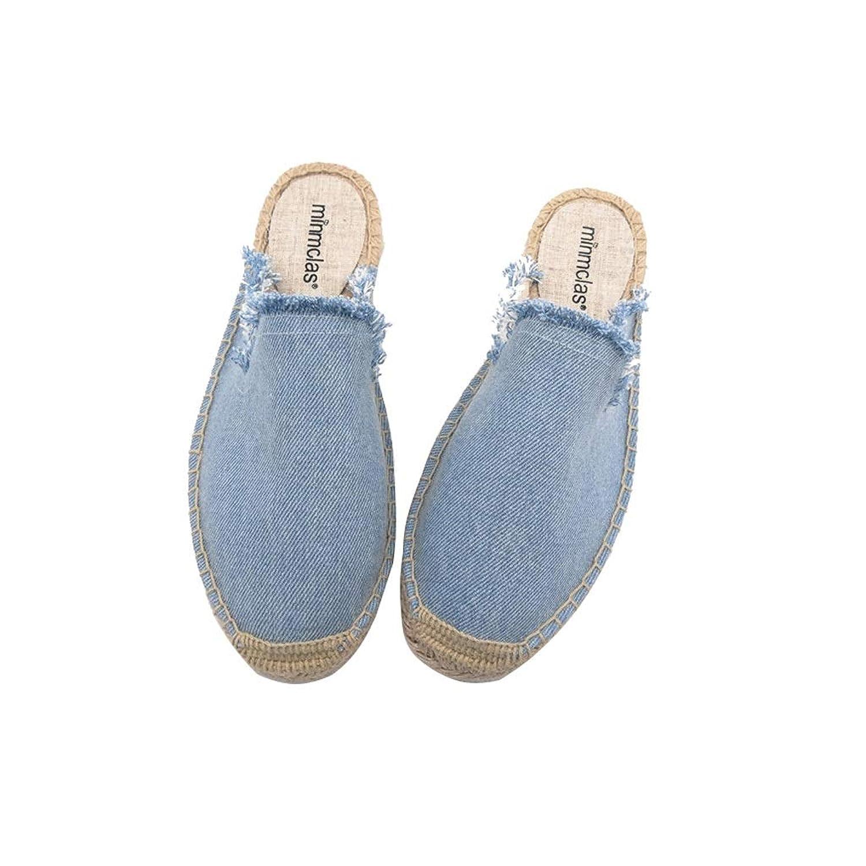 Ailj キャンバスシューズ、 女性 夏 シングルシューズ ソリッドカラーの穴の靴 通気性 漁師スリッパ(3色) (色 : C, サイズ さいず : EU 39/US 7/UK 6/JP 24.5cm)