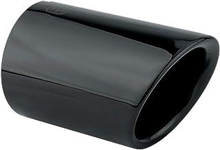 L&P A285 1 Auspuffblende Endrohrblende Schwarz Chrom Edelstahl poliert Plug&Play Endrohrblenden Auspuffblenden Auspuff Blende für 65mm Endrohre