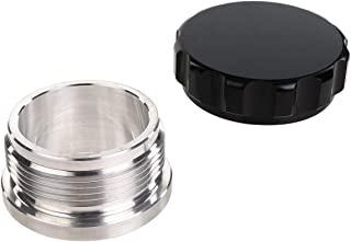 1.5 inch ID Natural Aluminum Alloy -24AN AN 24 Weld On Male Bung Female Filler Cap Fuel Tank Fitting, ID 1.5