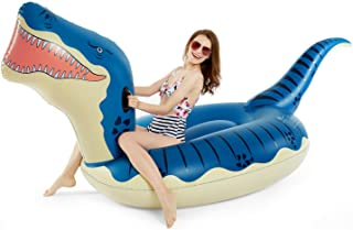 Jasonwell Inflatable Dinosaur Pool Float for Boys Girls Giant T-Rex Floatie Summer Beach Swimming Pool Inflatables T-Rex Ride on Party Pool Toys Raft Lounge Kids Adults Tyrannosaurus Rex Dinosaur Toys