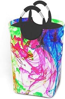 N\A Aquarelle Graffiti Paniers De Rangement Panier À Linge Souple Sale Sac Organisateur Écologique Sac De Rangement Amovib...