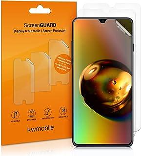 kwmobile 3x pellicola salvaschermo compatibile con Samsung Galaxy A50 - Film protettivo proteggi telefono - protezione ant...
