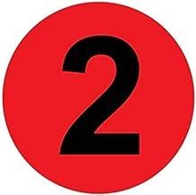 LHongBin-Deur huisnummer, 50 stks/pak Zelfklevende Etiketten Waterdicht Tafelnummer 3,6,10cm 1-50, Ronde Nummer Stickers E...