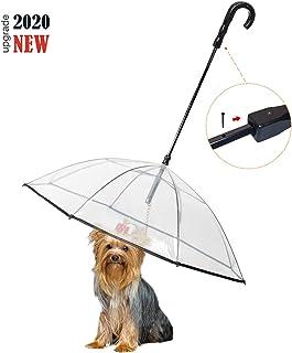 Enjoying Pet Umbrella Dog Umbrella with Leash Rain Proof Snow-Proof Umbrella for Small Dogs