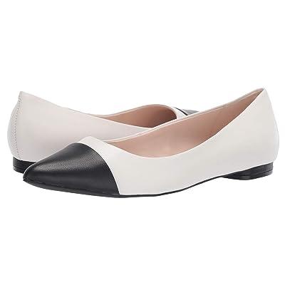 Tahari Okalani Flat (Cream/Black Leather) Women