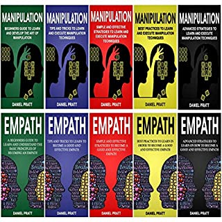 Dark Psychology: 10 Books in 1- 5 Books of Manipulation+ 5 Books of Empath audiobook cover art