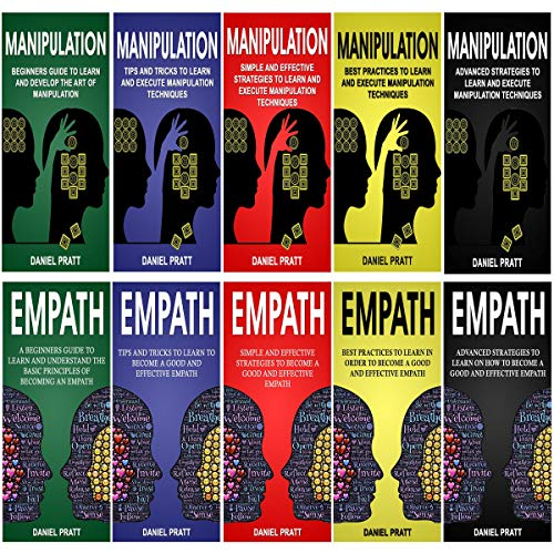 Dark Psychology: 10 Books in 1- 5 Books of Manipulation+ 5 Books of Empath Titelbild